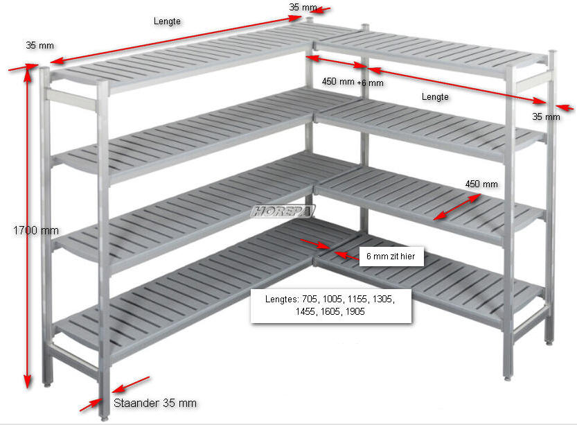 Stellingen Voor Garage.Stellingen Die U Zelf Kan Samenstellen Voor Gebruik In Koelcel
